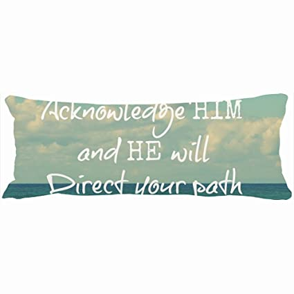 df315d4e2e1 ArtsLifes Family Decorative Body Pillows He Will Direct Your Path Bible  Verse Wall Decal Unique Design