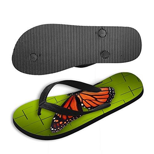 thikin Mujer/Chica mariposa Imprimir verano Toe Post sandalias de playa sandalias de varios estilos y colores brown2