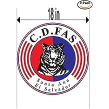 Club Deportivo FAS El Salvador Soccer Football Club FC 2 Stickers Car Bumper Window Sticker Decal Huge 18 inches