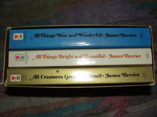 All Three Loveable Bestsellers By James Herriot in a Box Set (All Creatures Great and Small / All Things Bright and Beautiful / All Things Wise and Wonderful)