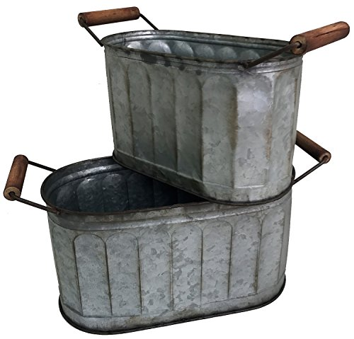 ugated Bucket Set of 2 ()