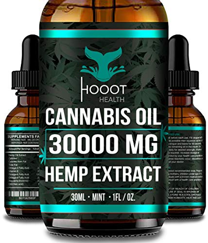 Hemp Oil for Anxiety Relief – 30000 MG – Premium Seed Grade – Natural Hemp Oil for Better Sleep, Mood & Stress – Improve…