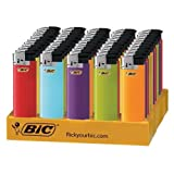 BIC 744256 Classic Push Button Electronic Lighter, Case of 50