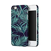 Wild Tropical Flowers Leaves Pattern Apple iPhone 5, iPhone 5s, iPhone SE Plastic Phone Protective Case Cover