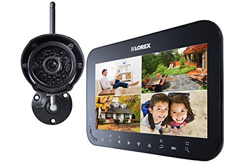 Lorex LW1741 Wireless Video Surveillance System Series with 7-Inch LCD Monitor and 1 Camera (Black) (Lorex Live Wireless Video)