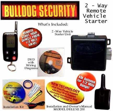 [SCHEMATICS_43NM]  Amazon.com: Bulldog Security 2 Way Remote Vehicle Starter Kit 1/2 Mile  Range with LCD Remote: Car Electronics | Bulldog Deluxe 500 Wiring Diagram |  | Amazon.com