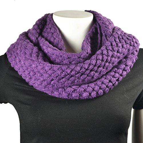 popcorn knit scarf - 5