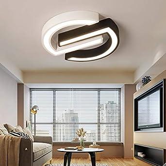 Moderne Led Deckenleuchte Einfache Lampe Decke Braun Wei/ß Deckenleuchten F/ür Schlafzimmer Esszimmer K/üche Lampe Dia500Mm Warmwei/ß