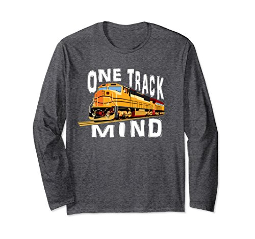 Apparel Train (Unisex One Track Mind Train Railroad Track T Shirt Tee XL: Dark Heather)