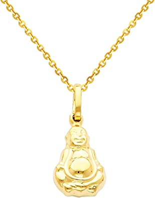 The World Jewelry Center 14k Yellow Gold CZ Religious Cross Pendant with 1.2mm Cable Chain Necklace