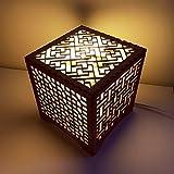 Korean traditional pattern wooden light / Wood lamp