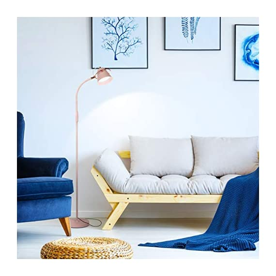"Brightech Zoey - LED Reading, Craft & Task Floor Lamp - Dimmable & Light Color Adjustable with Touch Switch- Standing… - PLACE OVER A SOFA AND USE THE GOOSENECK TO DIRECT LIGHT INTO YOUR LAP: Place the Brightech Zoey beside the couch to light up the novel or cross-stitch you're holding in your lap. Use the flexible yet sturdy gooseneck to position the light perfectly. Once in place, it stays put. It stands up to 64 1/2"" base to top. INDUSTRIAL UPRIGHT LAMP SUITS MANY DECORS: The architect look of the Brightech Zoey pairs well with, urban, art deco, mid-century, contemporary, industrial or ultra-mod décor. Turns on and off easily via a touch switch, and dims with a stepless dimmer. DIMMABLE & LIGHT COLOR ADJUSTABLE - FOR READING & CRAFTS OR MOOD LIGHTING: Capable of both mood and task lighting, Brightech's Zoey solves your home or office needs brightly and efficiently. Choose the color of your light at 3,000K Warm White, 4,500K Cool White or 6,000K Daylight white. The stepless dimming function allows you to simplify the process. The dimmable floor lamp can adjust brightness between 10% and 100%. Use the brightest for tasks in your office and the lowest for a cozy mood. - living-room-decor, living-room, floor-lamps - 5118De9FLkL. SS570  -"