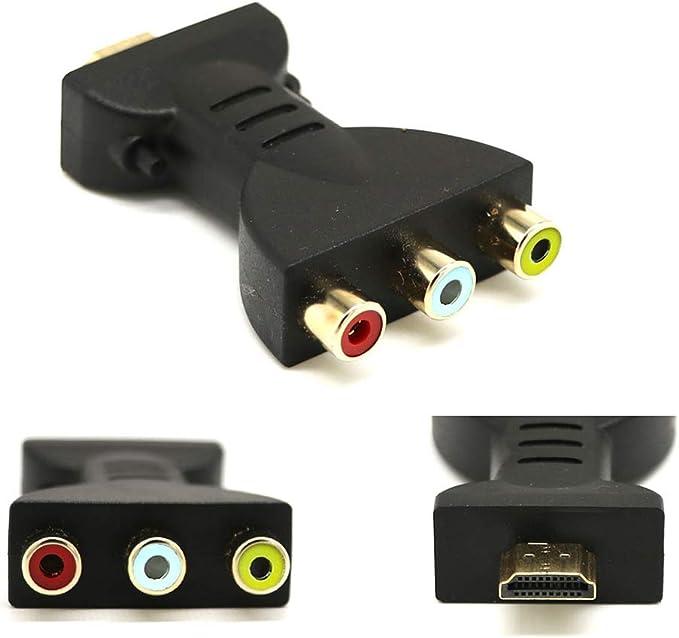 Chenpaif Hdmi Stecker Auf 3 Cinch Buchse Composite Av Audio Video Adapter Konverter Für Tv Amazon De Küche Haushalt