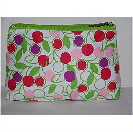Clinique Cherry patrón bolsa de maquillaje: Amazon.es: Belleza