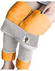 Eauptffy Dikke legging voor dames, winter, fluweel, thermisch ondergoed, super dikke legging, rekbare broek, elastisch, heupheffen, thermische onderbroek, lichaamsvorming, thermische thermische compressielegging
