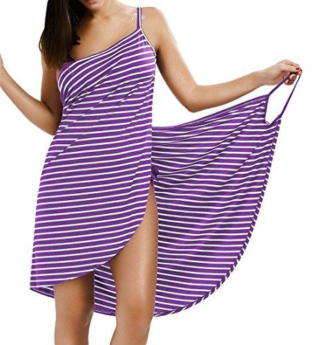 Asciugamano Abito Sauna Blu Collo Moda Comodo Senza Strisce Spa Sarong Spiaggia di Indossabile Tomwell Spalline V da Bagno Donna FPZnUxqI