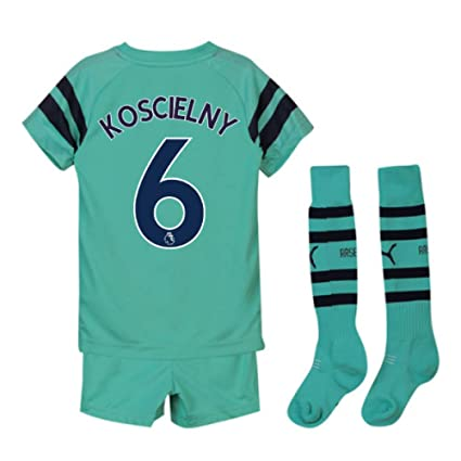 e624242df3067 Amazon.com : UKSoccershop 2018-2019 Arsenal Third Little Boys Mini ...