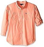 Men S Clothing Best Deals - U.S. Polo Assn. Men's Big-Tall Long Sleeve Slim Fit Button Down Sport Shirt, Summer School Orange, 2X