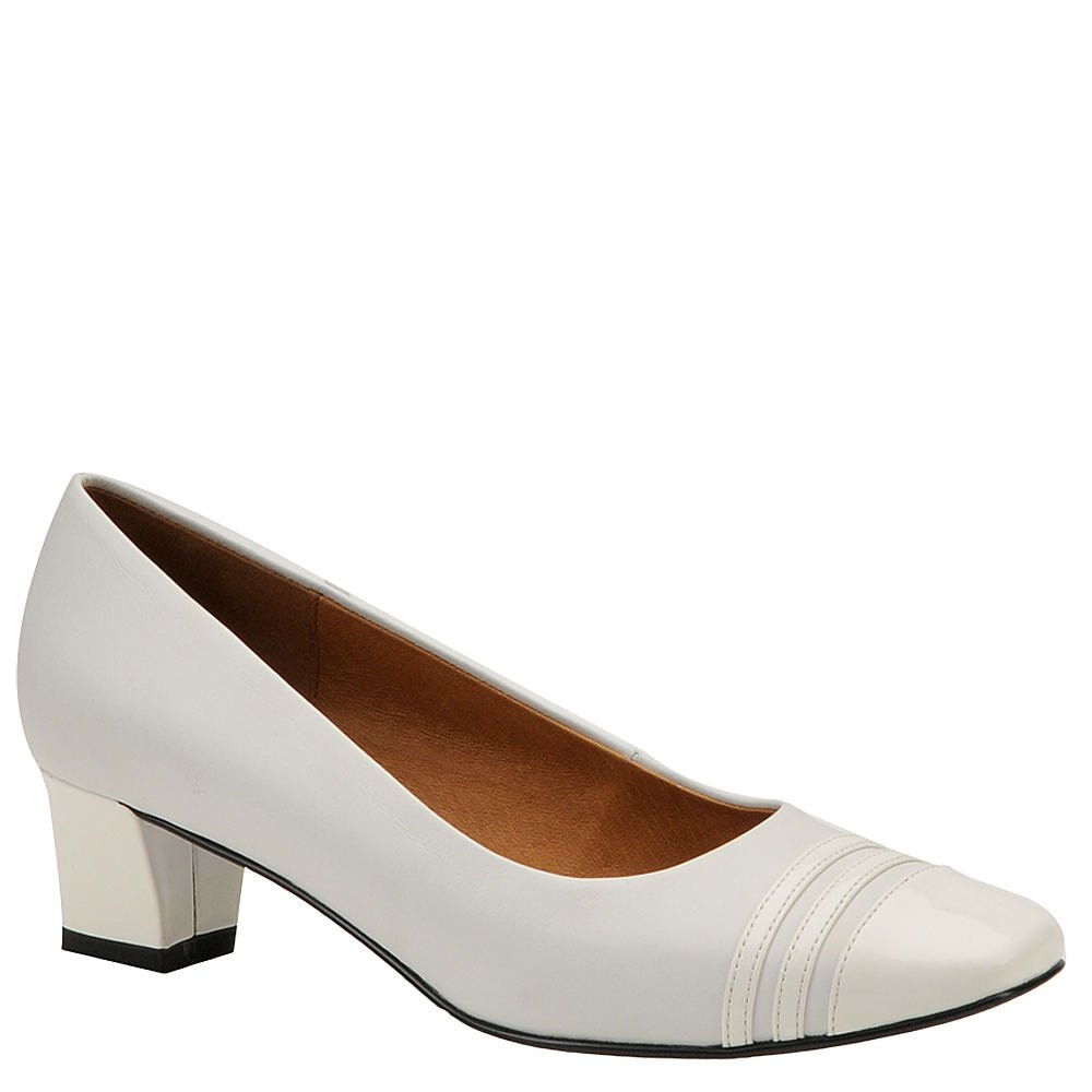 Auditions Womens Classy Leather Square Toe Classic Pumps Pumps