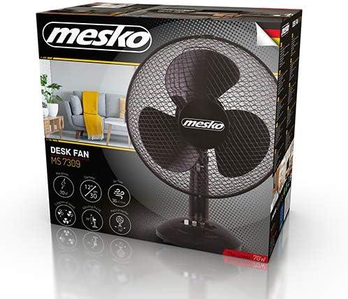 Noir Mesko MS 7309/Ventilateur