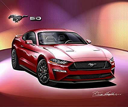2018 2019 MUSTANG GT COLOR RUBY RED