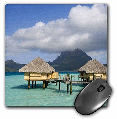 3dRose LLC 8 X 8 X 0.25 Inches Pearl Beach Resort, Bora-Bora, French Polynesia Sergio Pitamitz Mouse Pad (mp_85146_1) ()