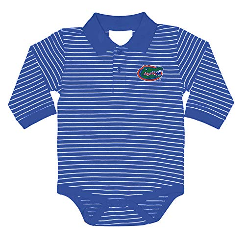 Two Feet Ahead NCAA Florida Gators Boys Infant Boys Long Sleeve Stripe Golf Creeperinfant Boys Long Sleeve Stripe Polo Creeper, Royal, 12 - Gators Florida Ncaa Stripes