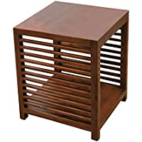 NES Furniture Nes Fine Handcrafted Furniture Solid Teak Wood Darcy Side Table / End Table - 24