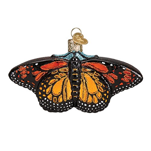 Old World Christmas Ornaments: Monarch Butterfly Glass Blown Ornaments for Christmas Tree -