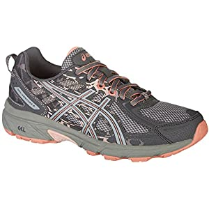 Asics Womens Gel-Venture 6 Carbon/Mid Grey/Seashell Pink Running Shoe - 8