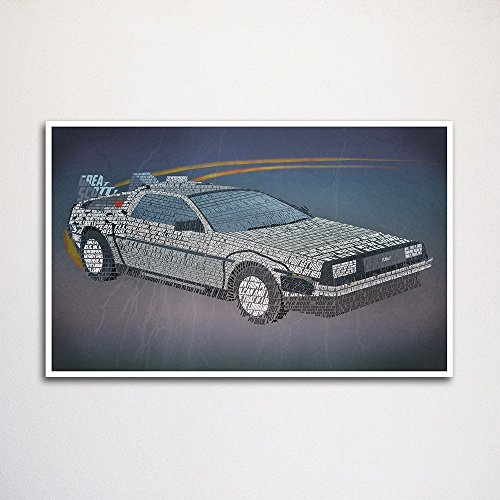 Back to the Future word art print 11x17