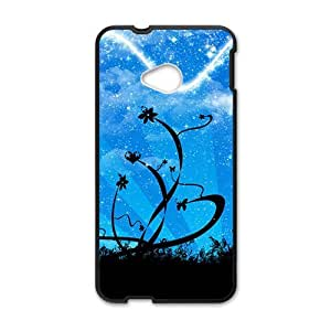 Aesthetic blue sky flowers fashion phone case for HTC One M7