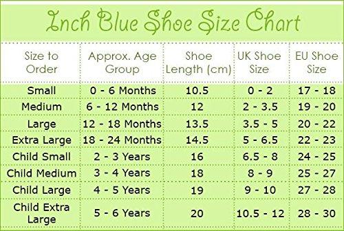 Inch Blue Krabbelschuhe Loveletter, navy/red, 6-12 Monate