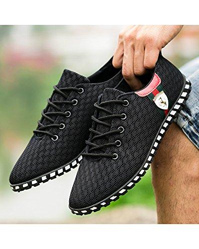 Zapatos CN Color Azul de 44 D Gris de Color Planos de Lona Mocasines Elemento 40 Goma 41 de de Coser Costura Hombre 43 Clásico Caqui 42 Suave Super Talla negro 39 Suela zq0BPw