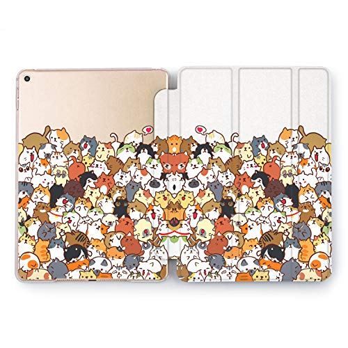 Wonder Wild Cat Bunch Design Case for Apple iPad 2 3 4 Pro 9.7 11 inch Mini 1 2 3 4 5 Air 2 10.5 12.9 2018 2017 5th 6th Gen Clear Smart Hard Cover Animal Cute Furry Meow Kittens Funny Heart Love ()