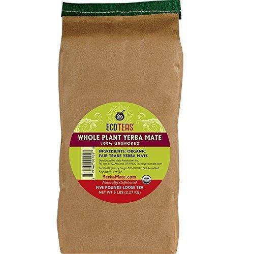 ECOTEAS Organic Yerba Mate Loose Tea Traditional Cut, 5 Pounds
