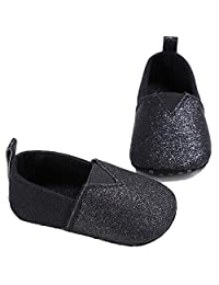 Newborn Baby Soft Soled Bling Sequins Crib Shoes Toddler Boys Girls Anti-Slip Sneakers