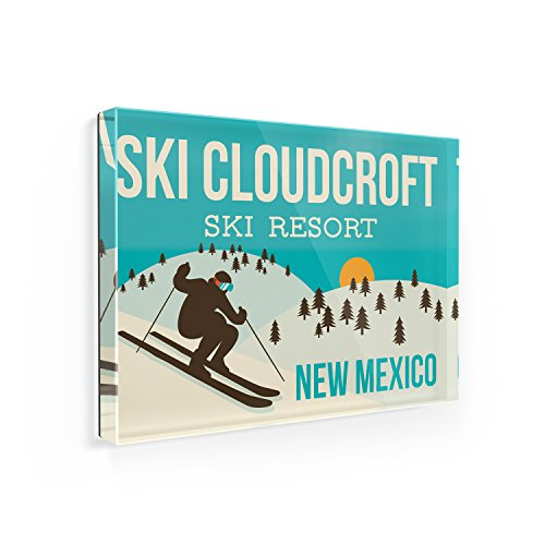 Fridge Magnet Ski Cloudcroft Ski Resort - New Mexico Ski Resort - NEONBLOND