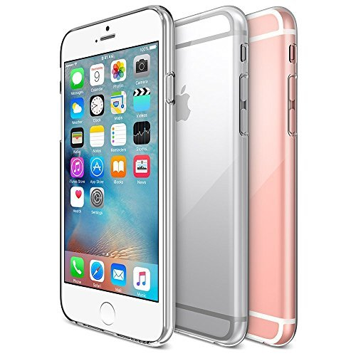 Oats® Case - Apple iPhone 6, 6s 0,3 mm crystal clear Cover Bumper Back Case silicone TPU transparent - by OKCS