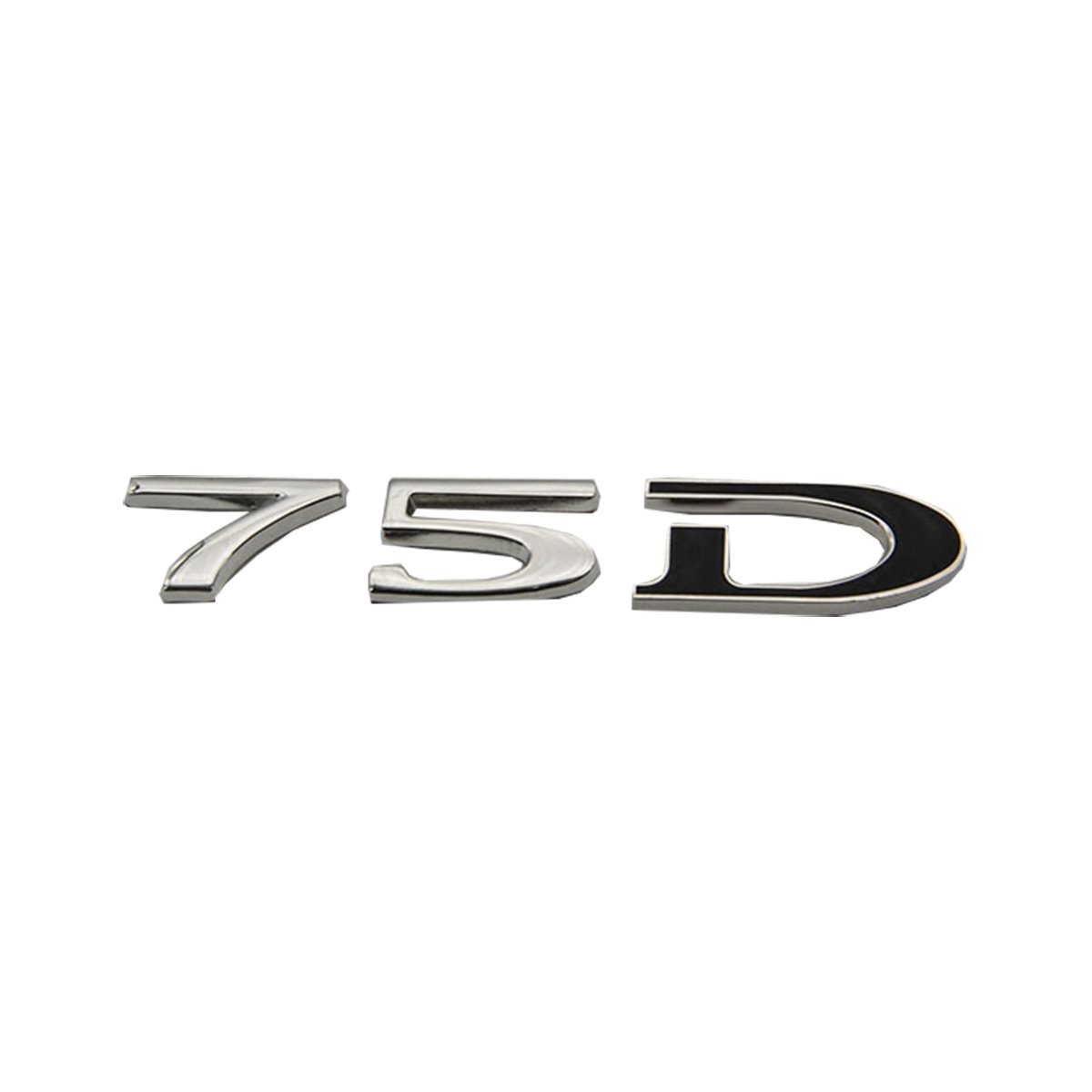 立体視75dカスタムステッカー、背面デジタルバッジfor Tesla Model SとモデルのX3セット B073ZZ46ZG