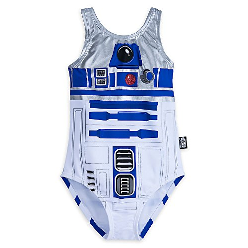 Star Wars R2-D2 Swimsuit For Girls Size 13 458035940912 -