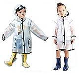 Gigabit Kids Raincoat Clean Rain Coat Jacket Poncho for Boys Girls