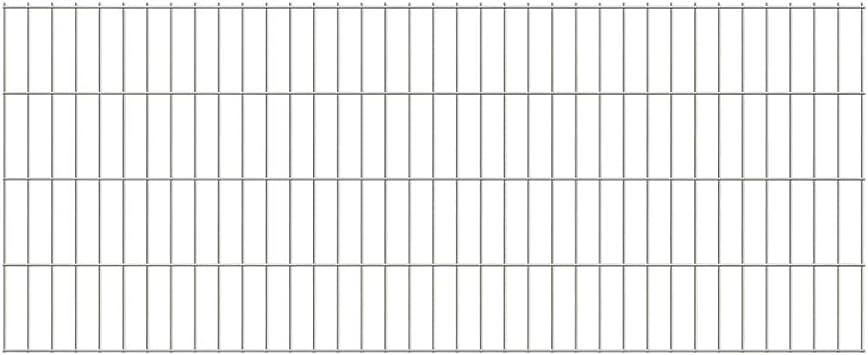 UnfadeMemory Doppelstabmattenzaun Gartenzaun Zaun Mattenzaun Gitterzaun f/ür Abgrenzungen im Garten Terrasse oder Bauernhof 2008x830 mm, Grau Maschengr/ö/ße 200 x 50 mm