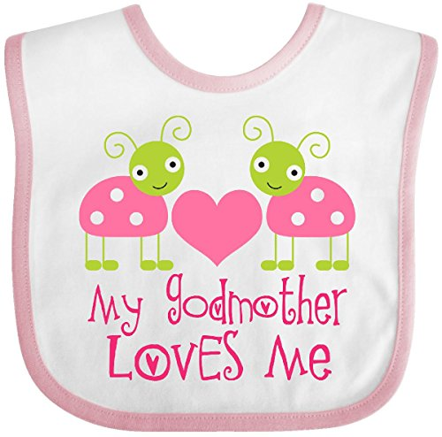 Baby Bugs Baby Bib (Inktastic - My Godmother Loves Me Girls Ladybug Baby Bib White/Pink)