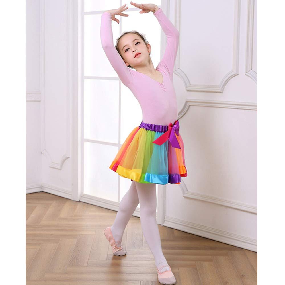 Xinvivion Tulle Rainbow Tutu Skirt Party Pettiskirts Dance Dress for Little Girls