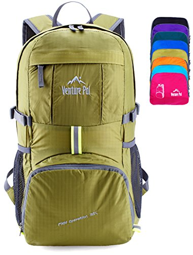 Venture Pal Lightweight Packable Durable Travel Hiking Backpack Daypack (Green) by Venture Pal