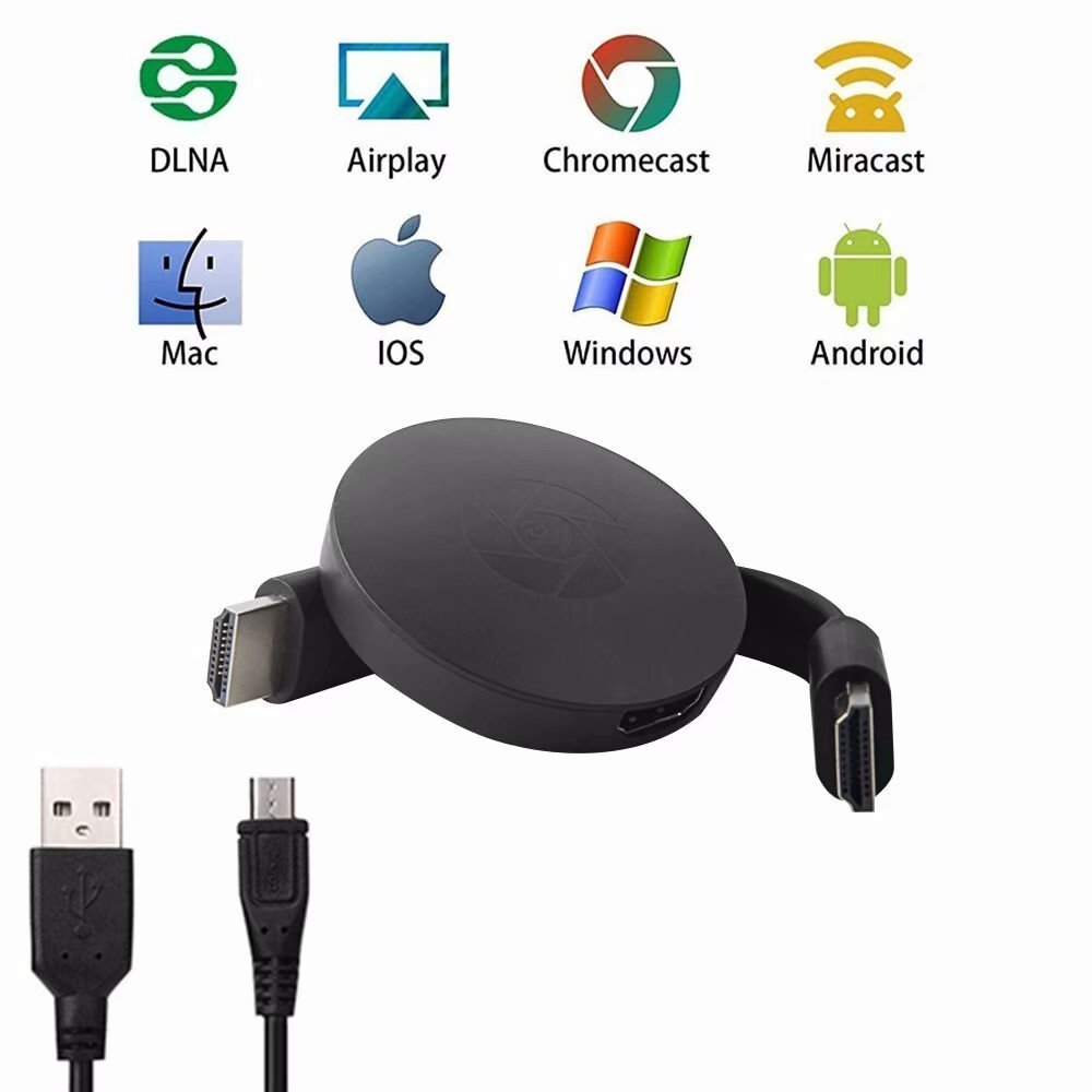 Wireless Wifi Display Dongle,1080P TV Dongle Receiver Support Google Chrome for IOS/Android YouTube,Live Camera Sharing,etc.