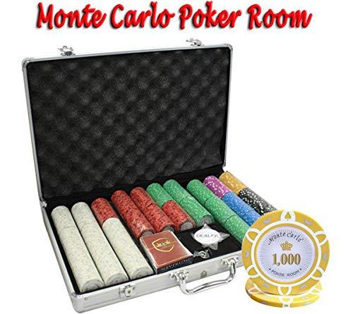 MRC Monte 650pcs Monte Carlo Poker Room MRC Poker Chipsセットwith Aluminumケースカスタム構築 Carlo B01D7SUKEC, 南部町:9639750c --- itxassou.fr