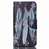 Acer Liquid Z630 Z630S Leather Case,Gift_Source [Three beams feathers] [Stand Feature] Magnetic Snap Case Premium Wallet Case Kickstand Flip Built-in Card Slots Folio for Acer Liquid Z630 Z630S 5.5