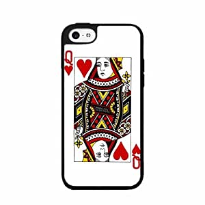Queen of Hearts - Plastic Phone Case Back Cover (iPhone 4 4s)